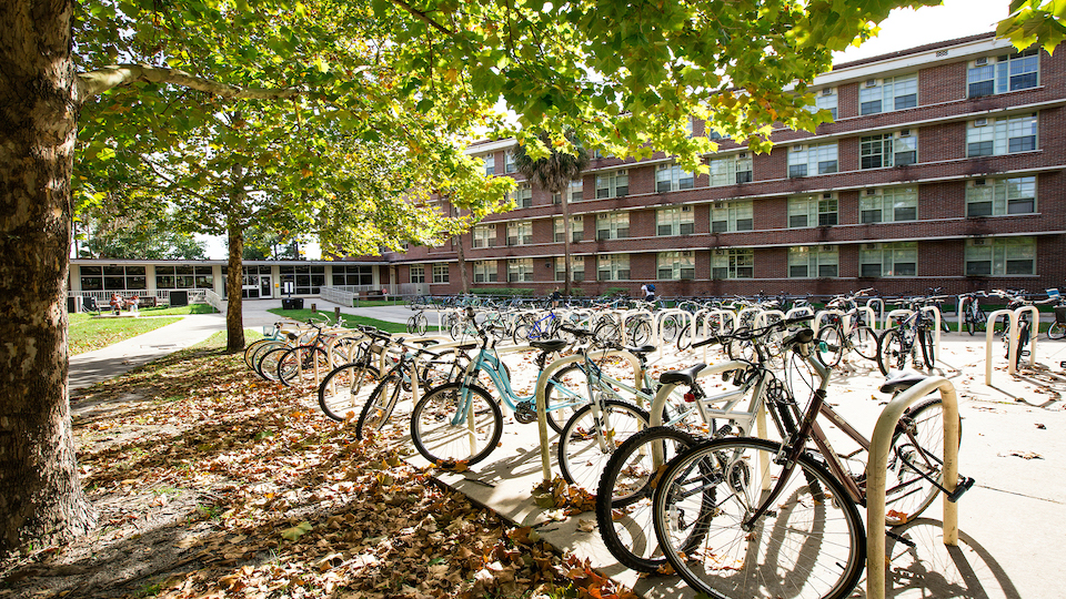 image of bicycles on campus